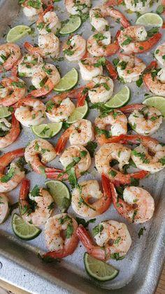 Cilantro-Lime Shrimp One-Pan Meal https://cleanfoodcrush.com/cilantro-lime-shrimp/