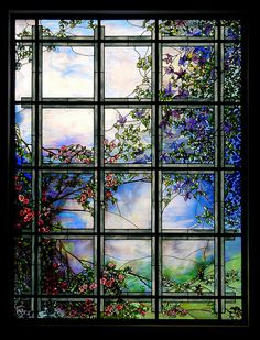Tiffany Window, Louis Tiffany Museum, near Matsue, Japan by David, via Flickr: The Louis C. Tiffany Museum and Gardens in Matsue was built with the theme of 'Harmony between Lake Shinji and Art'. There were approximately 200 items on display by Louis Comfort Tiffany, Unfortunately, the Museum closed in 2007.