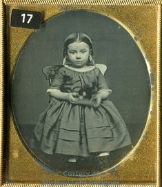 Great Plate Daguerreotype of a Little Girl with Her Toy Daguerreotype, Little Girls, Plates, Toys, Children, Ebay, Vintage, Licence Plates, Activity Toys