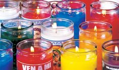 Candles And More at Wisdom Products. Glass Candle, Votive Candles, Wiccan, Witchcraft, Candle Meaning, Cinnamon Oil, Light Film, Jar Lights, Selling Your House
