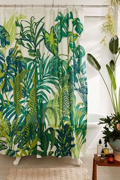 Slide View: 1: Dreamy Jungle Shower Curtain