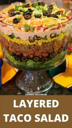 Low Carb Recipes, Beef Recipes, Cooking Recipes, Mexican Dishes, Mexican Food Recipes, Layered Taco Salads, Crudite, Good Food, Yummy Food