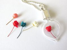 100 Mini Dried Roses Miniature Flowers by theglassconnection