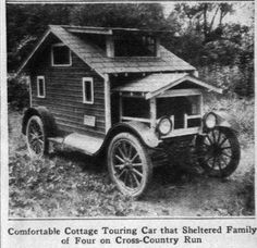 Model T Ford Forum: Unusual motor homes. Mobile homes have come a long way! Mini Camper, Truck Camper, Camping Vintage, Vintage Rv, Gypsy Wagon, Vintage Travel Trailers, Vintage Caravans, Rv Camping, Glamping