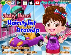 Choose from latest collection of costumes and accessories to give Baby Hazel a pretty hairstylist makeover http://www.topbabygames.com/baby-hazel-hairstylist-dressup.html