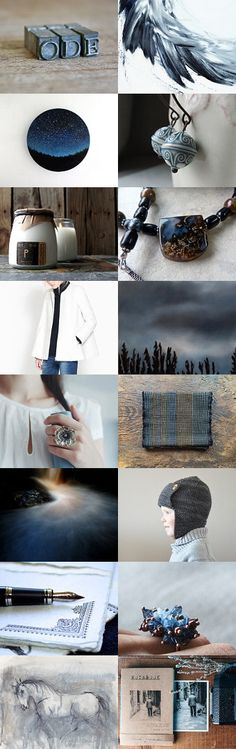 My Story is Blue, . . . Beautiful Blue by Julie and Jade on Etsy--Pinned with TreasuryPin.com #abstractart