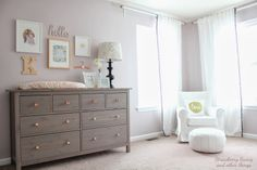 Hemnes Dresser with Gallery Wall - Strawberry Swing and other things