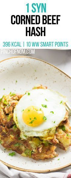 1 Syn Corned Beef Hash Pinch Of Nom Slimming World Recipes 396 kcal 1 Syns 10 Weight Watchers Smart Points Slimming World Dinners, Slimming World Recipes Syn Free, Slimming Eats, Slimming Word, Beef Recipes, Cooking Recipes, Corned Beef Hash, Eating Eggs, Healthy Eating Recipes