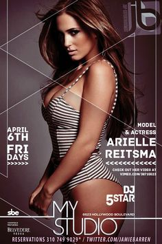 Jamie Barren presents MyStudio Hollywood Friday, April 6 2012    Hosted by model/actress ARIELLE REITSMA  http://vimeo.com/38715523     Music by DJ FIVE STAR (Hip Hop, Top 40 & House) - Arrive Early-RSVP 3107499029.