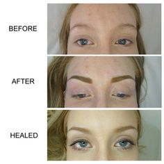 eyebrow microblading blonde hair. semi-permanent eyebrows by myself at deeper aesthetics permanent cosmetics. www.deeperaesthetics. eyebrow microblading blonde hair