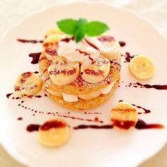 イングリッシュマフィンでフレンチトーストを作るとモチモチ感アップ! 甘い味でも大活躍してくれる食感。