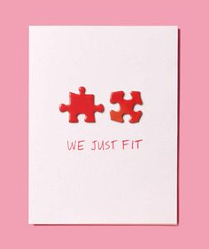 Puzzle Pieces as Valentine's Day Card | Fun new ideas for paper plates, cakestands, name tags, and more.
