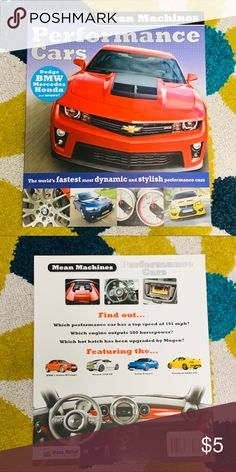 3 15 Performance Cars Mean Machines Book Nwt With Images