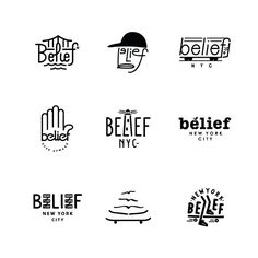 Belief NYC logo designs