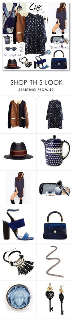 """""""Beautifulhalo 248"""" by ludmyla-stoyan ❤ liked on Polyvore featuring Lanvin, Polish Pottery, ONLY, Lancôme, Paul Andrew, Gucci, Topshop, Amedeo, Betsey Johnson and Matsuda"""