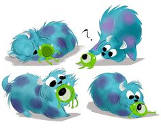 kitty sulley new toy by coffeebandit on DeviantArt Mike And Sulley, Mike Wazowski, Cartoon Network Adventure Time, Adventure Time Anime, Cute Disney, Disney Art, Kawaii Disney, Disney And Dreamworks, Disney Pixar