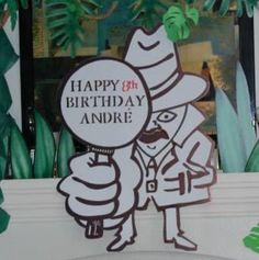 Magalie Sarnataro's props Jungle decor details  Jungle spy sign Happy 8th Birthday, Jungle Safari, Spy, Decor, Decoration, Decorating, Deco