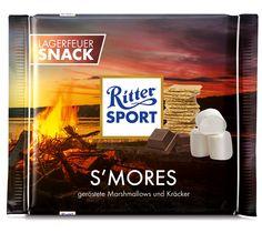 Mhhmm ...  für den #nationalsmoresday haben wir haben die perfekte Fake-Sorte kreiert: Eine Schokolade mit gerösteten Marshmallows und Kräckern passt perfekt. ;-) #smore