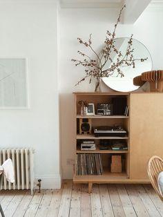 styled shelves vinyl storage