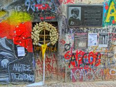 This is the shrine to Alexandrou Grigoroplou. This is the shrine to Alexandrou Grigoroplou, near the spot where the boy was shot by the police, setting off the riots of Dec 2008. It is at the corner of  Mesolongiou, now unofficially renamed Alexander Grigoropoulou Street, and Tzabella street. Walking Tour, Athens, Police, Corner, Tours, Eyes, Street, Art, Art Background
