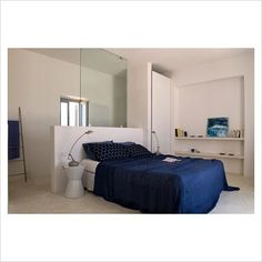 GAP Interiors - Modern bedroom with ensuite shower cubicle - Picture library specialising in Interiors, Lifestyle & Homes