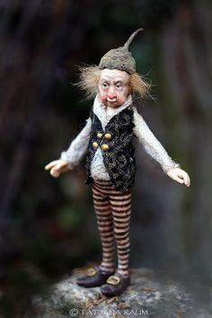 OOAK miniature artdoll 112th by Tatjana Raum dollhouse by chopoli, $560.00