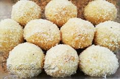 For the Sweet Lovers !Ingredients (Makes 10 to 12 pieces)Desiccated Coconut : 3 CupsCondensed Mil Making 10, Almond, Coconut, Candy, Diwali, Sweet Stuff, Balls, Desserts, Postres