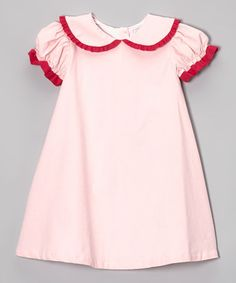 Take a look at this Light Pink & Hot Pink Peter Pan Dress - Infant, Toddler & Girls by Smockadot Kids on