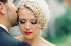 bridal beauty inspiration wedding makeup ideas retro red lips