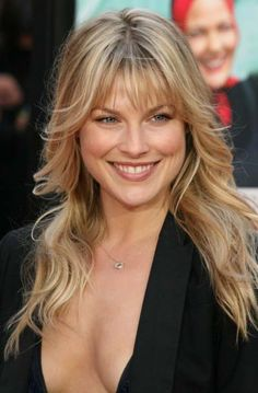 Ali Larters long layered hairstyle with bangs