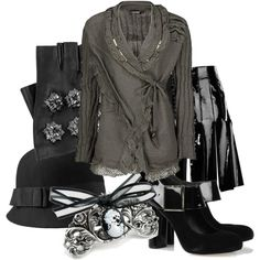 """Leather & Lace"" by marina15 on Polyvore"