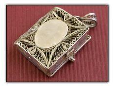 Sterling Silver Locket (functional little book)