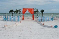 Our Island Oasis with vertical chair sashes