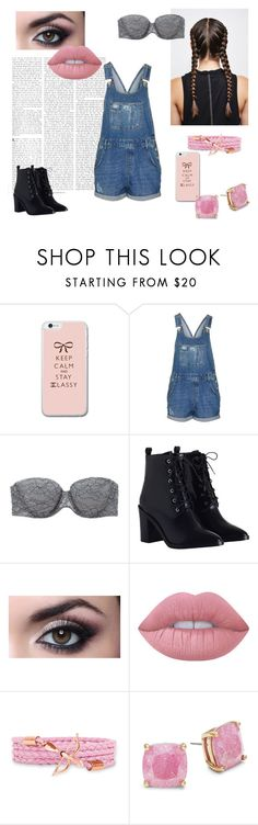 """""""To walk around town"""" by eliskaozanikova ❤ liked on Polyvore featuring Topshop, Aerie, Zimmermann, Lime Crime and Kate Spade"""