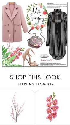 """""""Sammydress spring"""" by purpleagony ❤ liked on Polyvore featuring Pier 1 Imports, Laura Cole, Gucci, shirtdress, sammydress, springfashion and pastelcoat"""