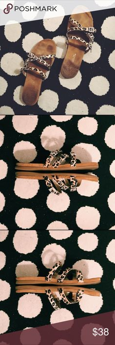 {Aersoles} •disc e business strappy leopard sandal As seen, in the Birkenstock sandal style, they are insanely comfortable! • ❌ no trades or lowballing ❌ • offers considered, prices will not be discussed in the comments • bundles of 2+ receive 20% off 🎉 • Use code NQAXM to get $5 off your purchase AEROSOLES Shoes
