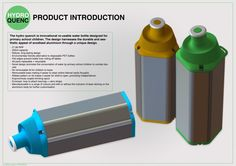 Hydro - QUENC (childrens reusable water bottle) by Jonathan Spain, via Behance