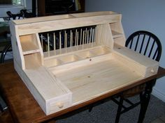 Portable Fly Tying Station | Love this custom fly tying desk by Spencer Cook. Big enough to be used ...