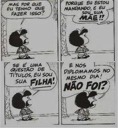 PoRtUgUêS nA TeLa: #humor tirinha: MAFALDA