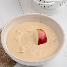 One of our all-time favorite snacks, apple slices and peanut butter, is taken to a new level with the addition of kefir! Packed with protein, fiber and probiotics, it's a healthy treat you can nosh on without regret.