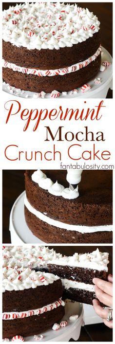 Peppermint Mocha Crunch Cake Recipe. YUUUUMM!!!!!!!