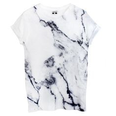 Marble Tee ($37) ❤ liked on Polyvore featuring tops, t-shirts, shirts, tees, unisex t shirts, marble t shirt, crew neck tee, white graphic tees e white shirt