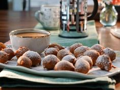 Get Mini Zeppole with Caramel Marsala Dipping Sauce Recipe from Food Network