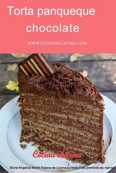Deliciosa torta panqueques de chocolate Rellena con crema delicia Chocolate Pancakes, Chocolate Cake, Argentine Recipes, Crepe Recipes, Crepes, Yummy Cakes, Sweet Recipes, Favorite Recipes, Cookies