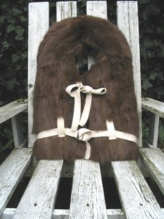 Fur Lifejacket by Ouno Design/Lindsay Brown, 2006, made from vintage Canadian women's fur jacket, complete with original pockets and containing regulation life-vest.