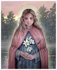 St. Philomena Catholic Patron Saint 8x10 Art by PortraitsofSaints, $12.00