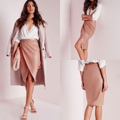 Slit High-waist Zipper Skirt Overview:  (1) High-Waist (2) Solid Color (3) Zipper Fly (4) Slit (5) Pink (6)PU (synthetic leather) (7)Knee Length  (8)skinny  Fit&Sizing:  Stretchable Little Skirts Pencil