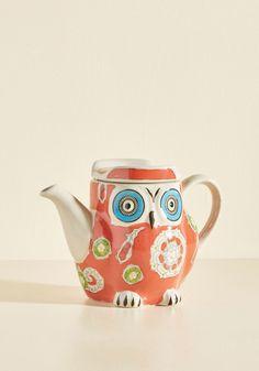 Hoot's Invited? Tea Pot | Mod Retro Vintage Kitchen | ModCloth.com