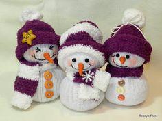 Beccy's Place: Sock Snowmen