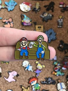 Details About The Item: - You Will Receive One Custom Enamel Pin! - Each Pin is Roughly Inches - Each Pin has a Secure Rubber Clutch on the Back - We sell only the Highest Quality of Products Custom Couches, Pin Pics, Mario And Luigi, Pin And Patches, Cute Pins, Pin Badges, Pin Collection, Friends In Love, Etsy Vintage